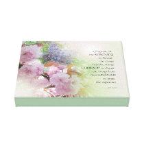Serenity Prayer Spring Flowers Canvas Print
