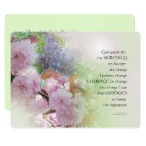 Serenity Prayer Spring Flowers Invitation