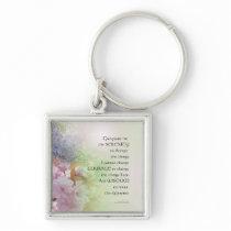 Serenity Prayer Spring Flowers Keychain