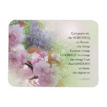 Serenity Prayer Spring Flowers Magnet