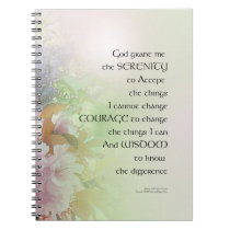 Serenity Prayer Spring Flowers Notebook