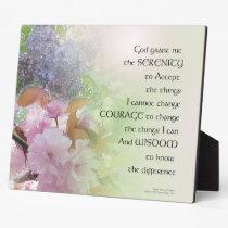 Serenity Prayer Spring Flowers Plaque