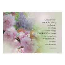 Serenity Prayer Spring Flowers Poster