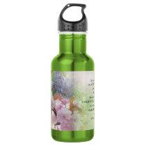 Serenity Prayer Spring Flowers Stainless Steel Water Bottle