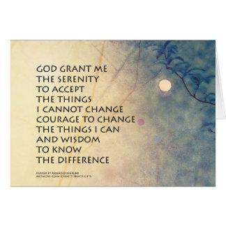 Serenity Prayer Spring Moonrise Card