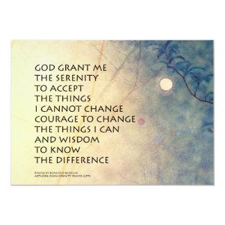 Serenity Prayer Spring Moonrise 5x7 Paper Invitation Card