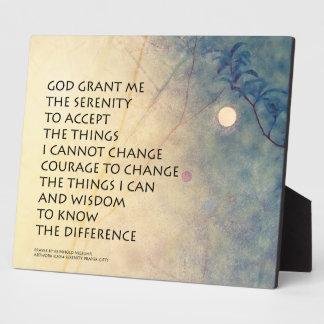Serenity Prayer Spring Moonrise Plaque