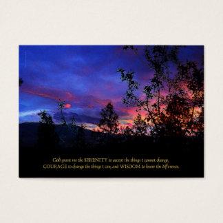 Serenity Prayer Spring Sunrise Business Card