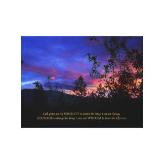 Serenity Prayer Spring Sunrise Canvas Print