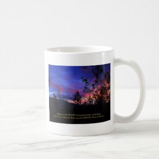 Serenity Prayer Spring Sunrise Coffee Mug