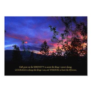 "Serenity Prayer Spring Sunrise 5"" X 7"" Invitation Card"