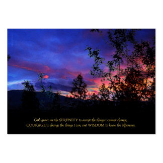 Serenity Prayer Spring Sunrise Large Business Card