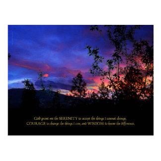 Serenity Prayer Spring Sunrise Postcard