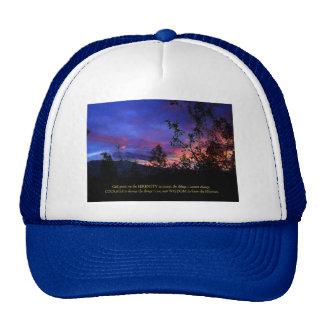 Serenity Prayer Spring Sunrise Trucker Hat