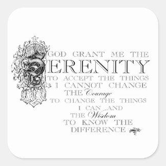 Serenity Prayer Square Sticker