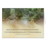 Serenity Prayer Stacked Rocks Card