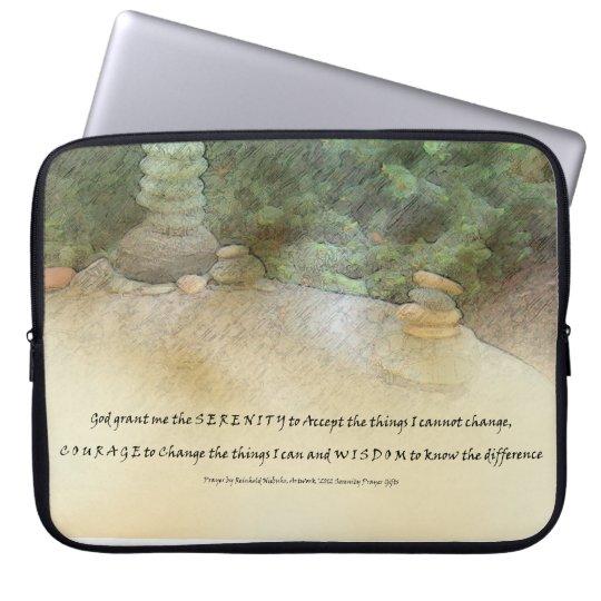 Serenity Prayer Stacked Rocks Laptop Sleeve