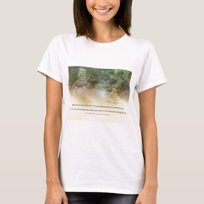 Serenity Prayer Stacked Rocks T-Shirt