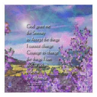 Serenity Prayer Stained Glass Poster