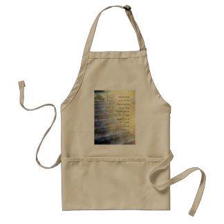 Serenity Prayer Steps Blue and Yellow Adult Apron