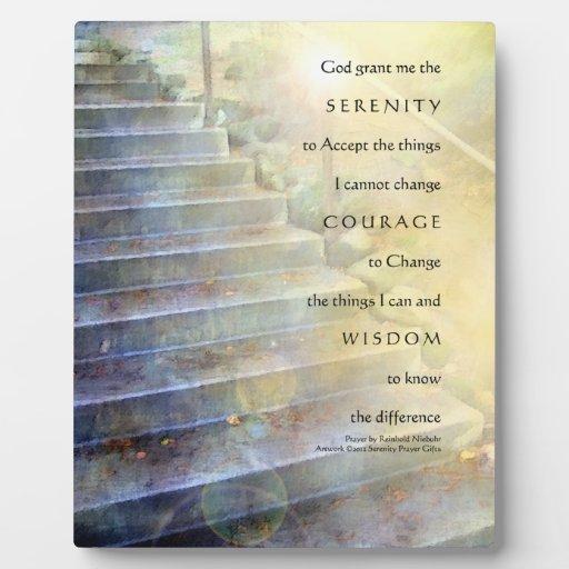 Serenity Prayer Steps Plaque