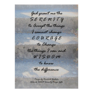 Serenity Prayer Steps Poster
