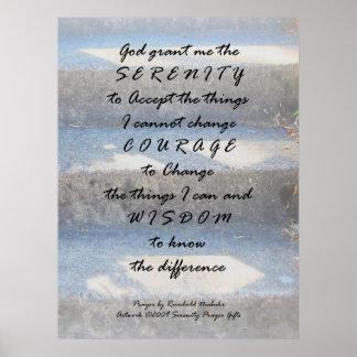 Serenity Prayer Steps Print