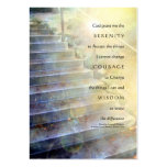 Serenity Prayer Steps Yellow Blue Large Business Cards (Pack Of 100)