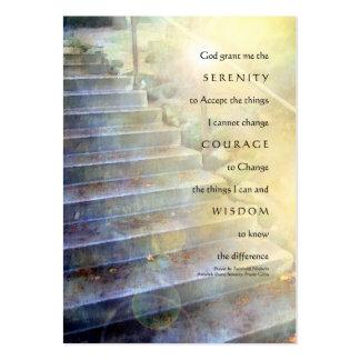Serenity Prayer Steps Yellow Blue Business Card Template