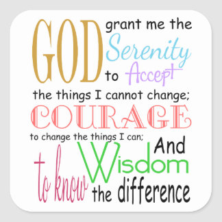Serenity Prayer Sticker