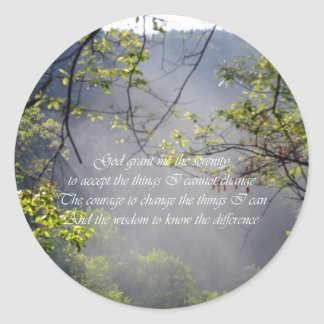 Serenity Prayer Round Stickers