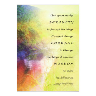 "Serenity Prayer Stream Invitation 5"" X 7"" Invitation Card"