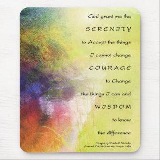 Serenity Prayer Stream Mouse Pad