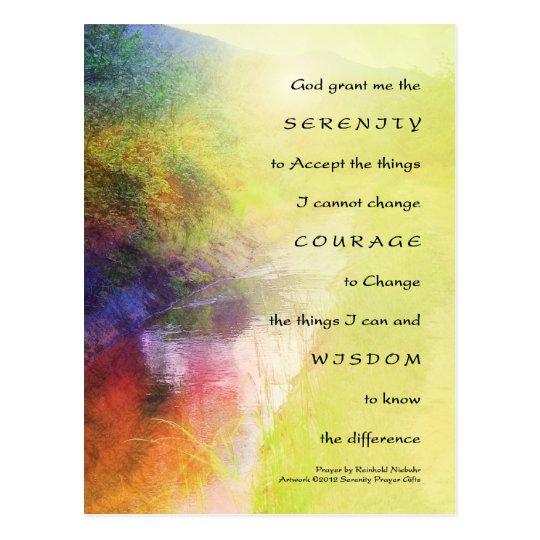 Serenity Prayer Stream Postcard