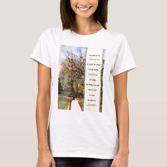 Serenity Prayer Street Scene T-Shirt