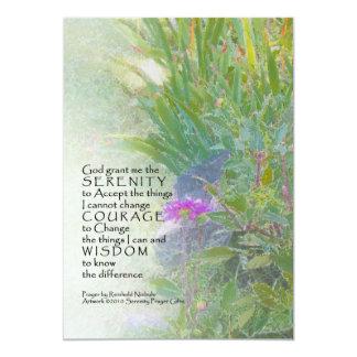 """Serenity Prayer Summer Garden Invitation 5"""" X 7"""" Invitation Card"""