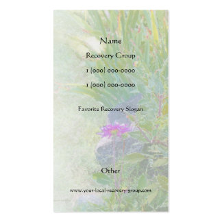 Serenity Prayer Summer Garden Profile Card Double-Sided Standard Business Cards (Pack Of 100)