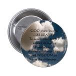 Serenity Prayer Summer Sky Pinback Button