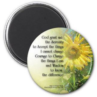 Serenity Prayer Sunflower 2 Inch Round Magnet