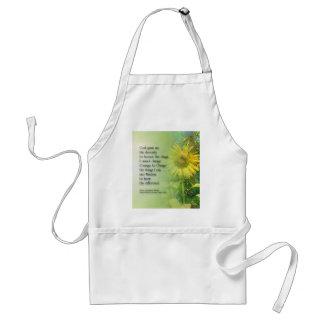 Serenity Prayer Sunflower 3 Adult Apron