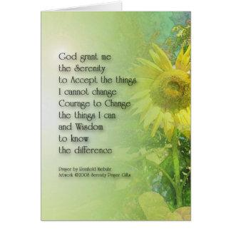 Serenity Prayer Sunflower 3 Card