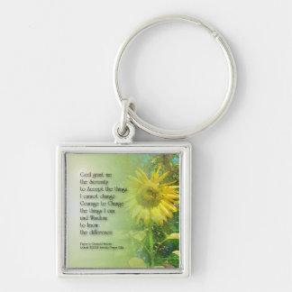 Serenity Prayer Sunflower 3 Keychains