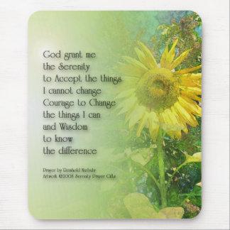 Serenity Prayer Sunflower 3 Mouse Pad
