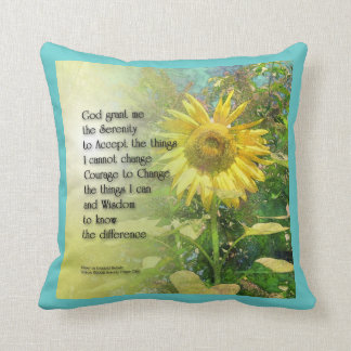 Serenity Prayer Sunflower American MoJo Pillow