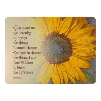 Serenity Prayer Sunflower Blend Card