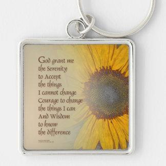 Serenity Prayer Sunflower Blend Keychain