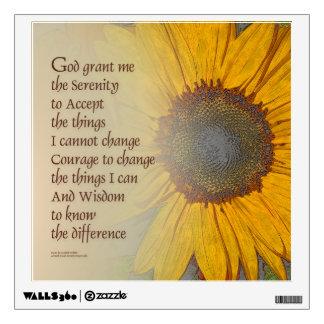 Serenity Prayer Sunflower Blend Wall Sticker