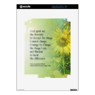 Serenity Prayer Sunflower Decal For The iPad 2