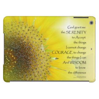 Serenity Prayer Sunflower Glow Case For iPad Air