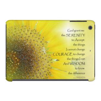 Serenity Prayer Sunflower Glow iPad Mini Covers